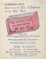 Advert For John & James Universal Tea Distributors